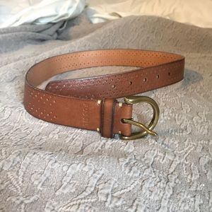 Fossil Brown Leather Belt. Size Small.